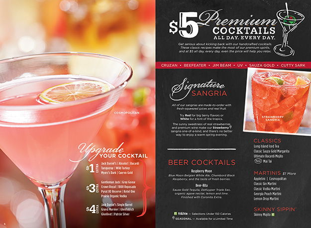 Ruby Tuesday Drink and Dessert Menu - Drink Photography