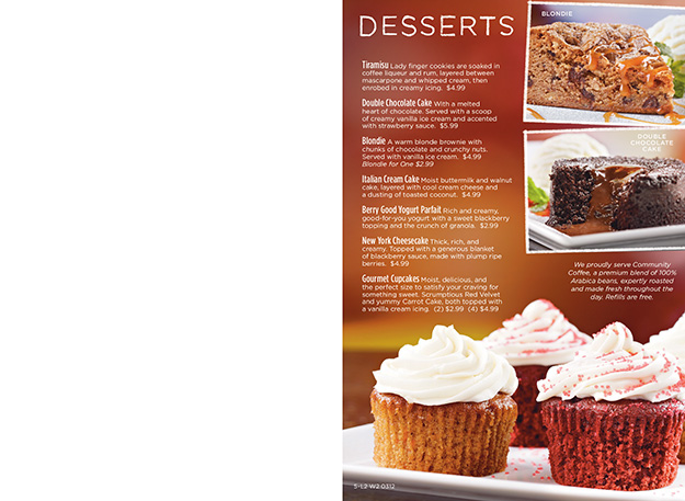 Ruby Tuesday Drink and Dessert Menu - Food Photography