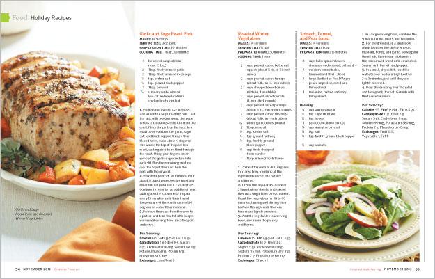 Diabetes Forecast Food Photography