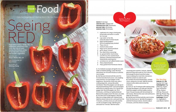 food photography for diabetes forecast magazine