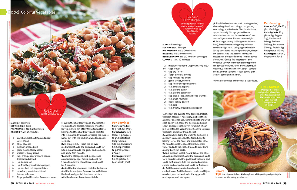 food photography for diabetes forecast magazine