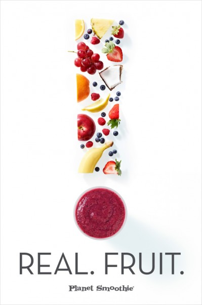 Planet Smoothie Fruit Art Poster
