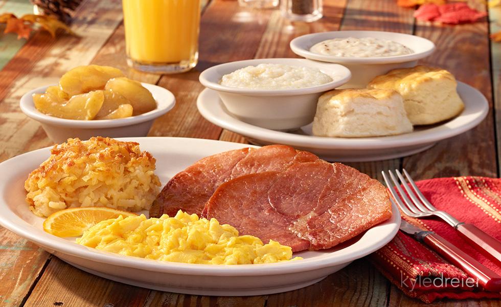 Cracker Barrel Ham and Eggs