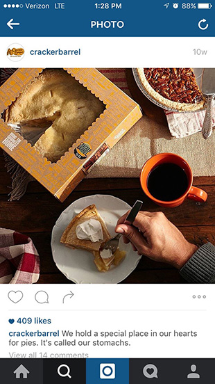 social media food photography